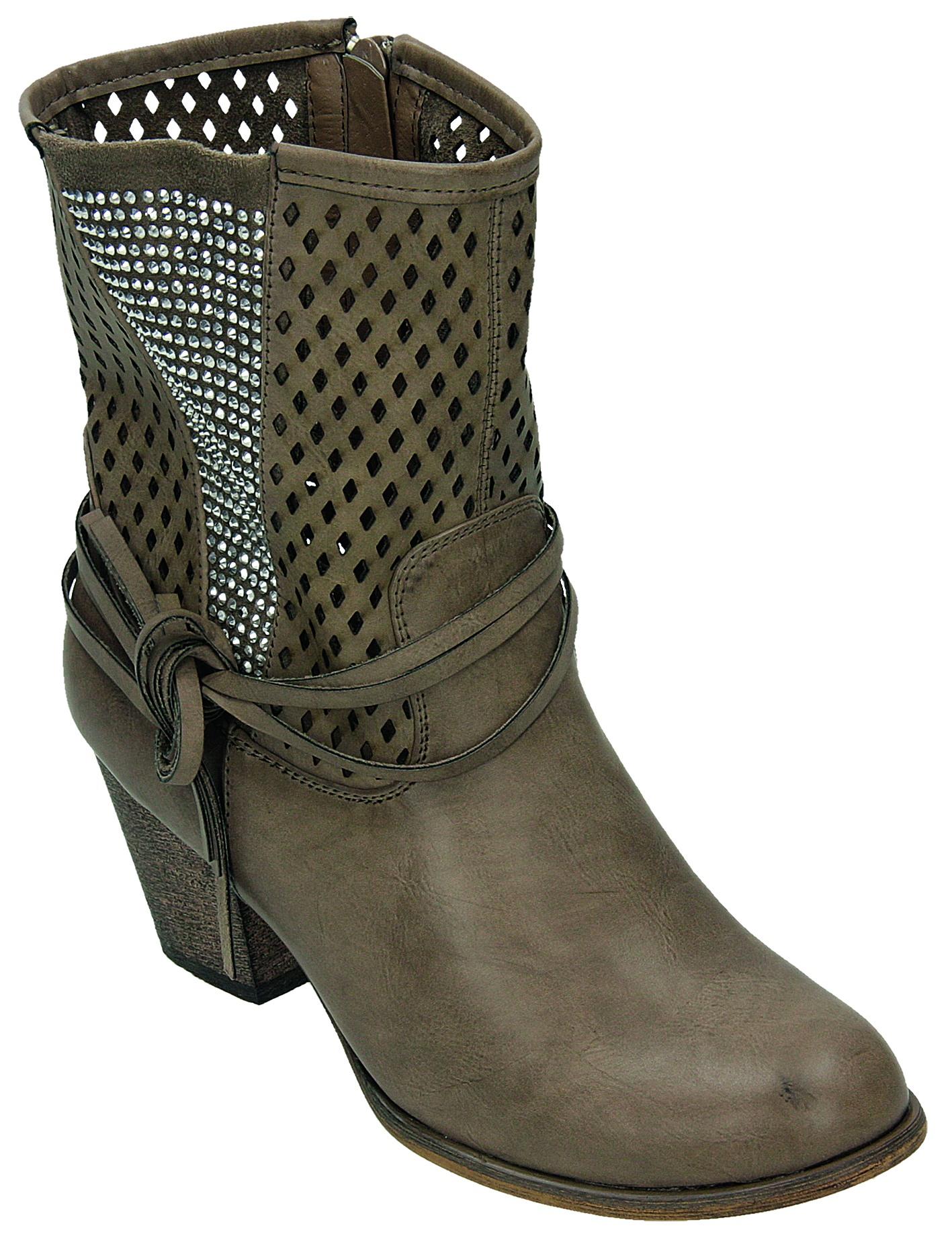 online store c6384 00f80 Details zu Conway Damen Stiefel/Stiefelette D.Sommerstiefel Grau LW136-17  GREY