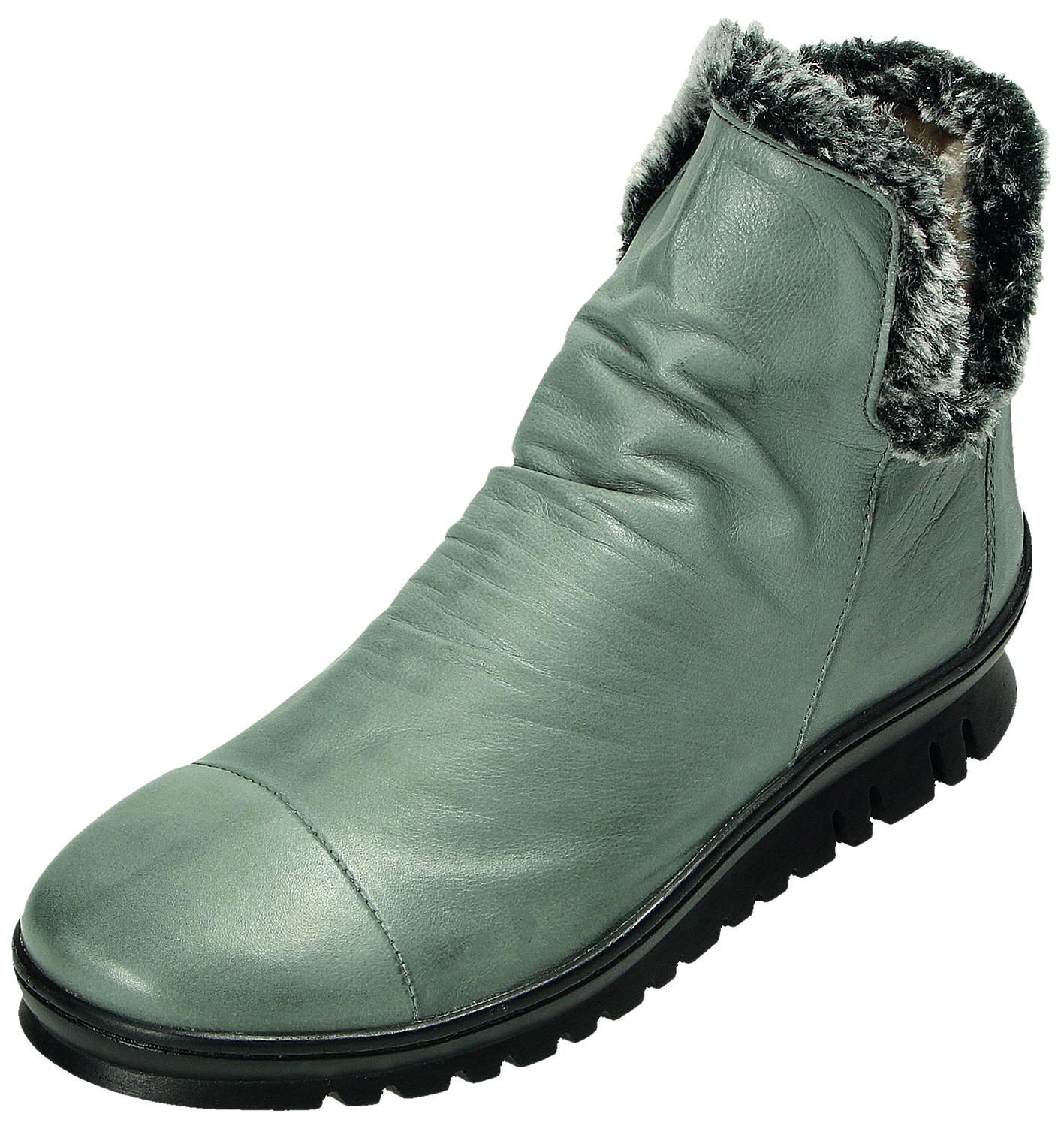 Miccos Miccos Miccos schuhe Damen Stiefel Stiefelette Damen-RV-Stiefel Grau 18510 TOPO a9be3f