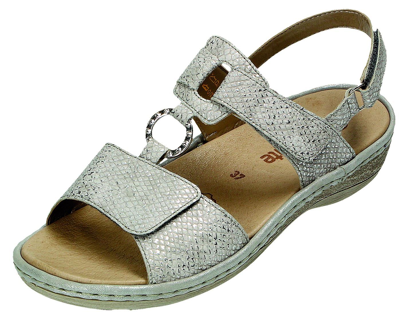 Remonte Damen Sandale-Pantolette D.Sandaleette Silber D7648 90 SILBER