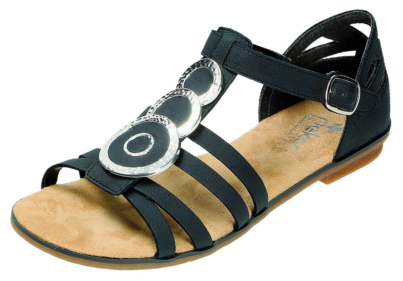 Details zu Rieker Damen Sandalen Pantolette D.Sandalette Blau 64296 14 PAZIFI