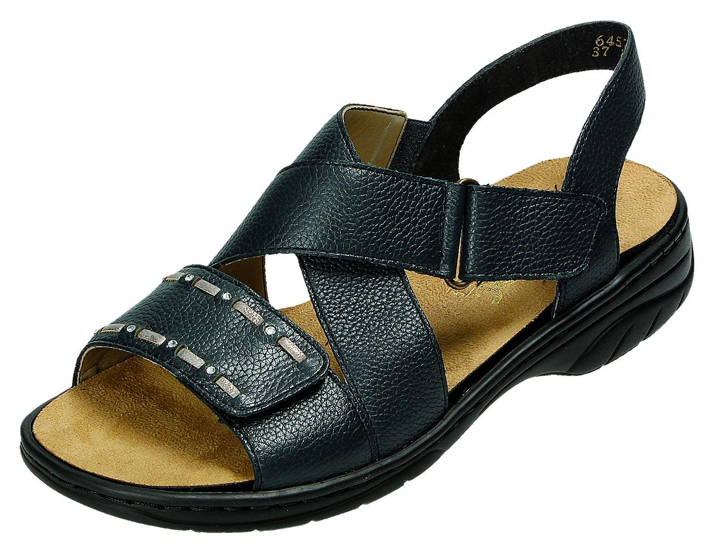 Rieker Damen Sandale-Pantolette D.Sandaleette Blau 64572 15 ROYAL/