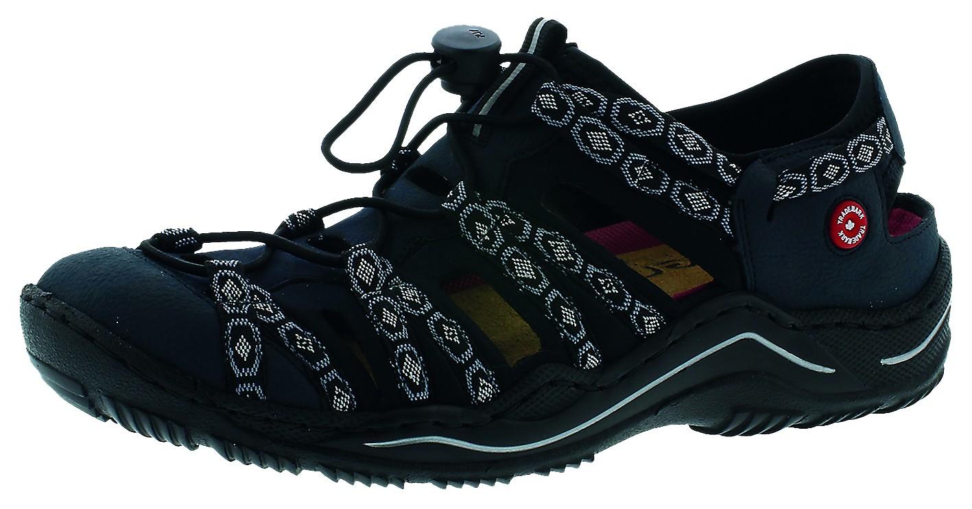 Rieker Damen Sandale-Pantolette D.Sandaleette Blau L0577 15 PAZIFI