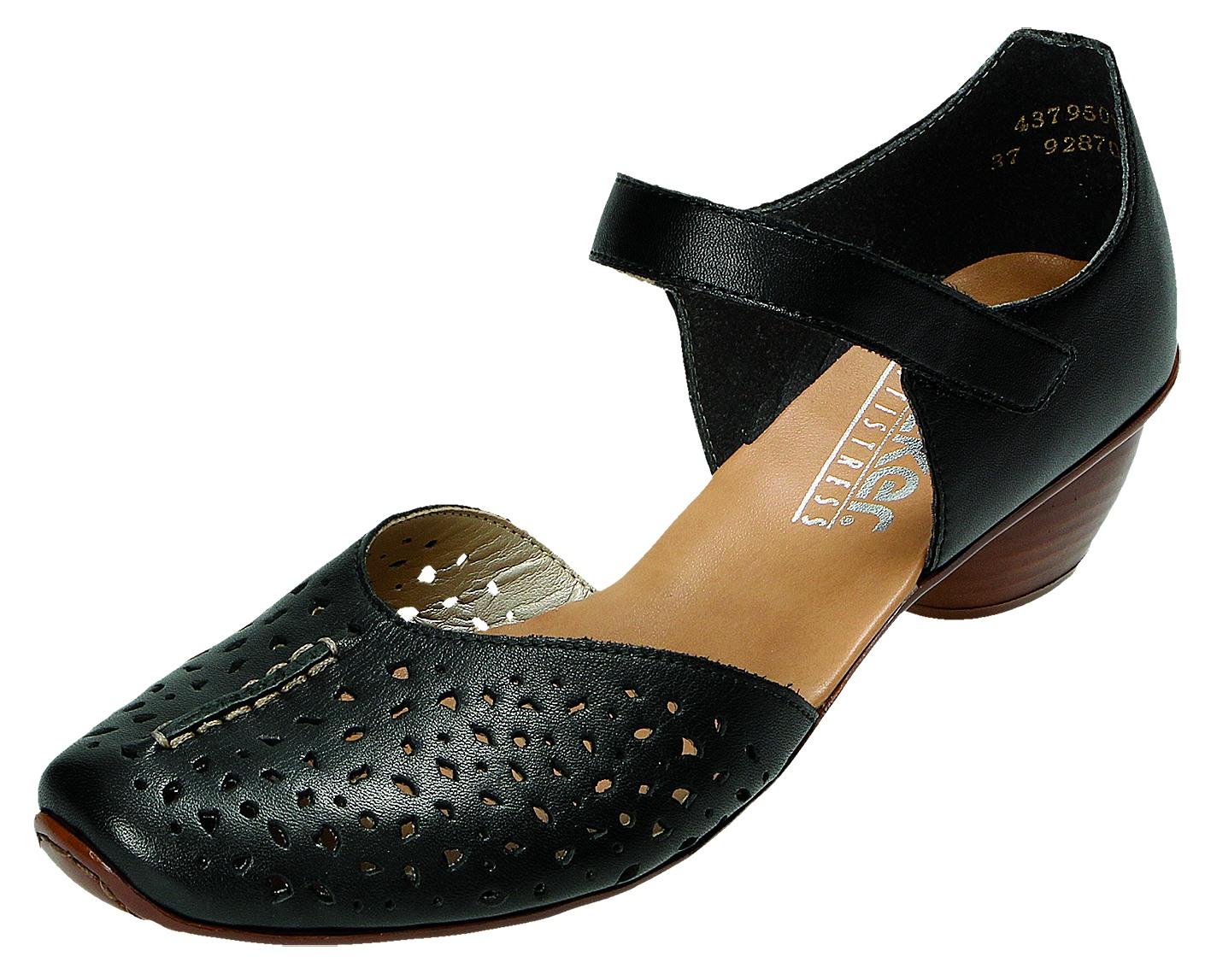 Details zu Rieker Damen Schuhe sportlich Damen Pumps Schwarz 43795 01 SCHWAR