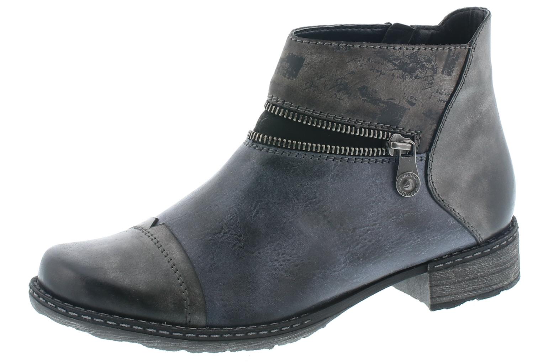 Remonte Damen Schuhe Stiefel Stiefelette Damen-RV-Stiefel Schwarz D4361 14 schwarz
