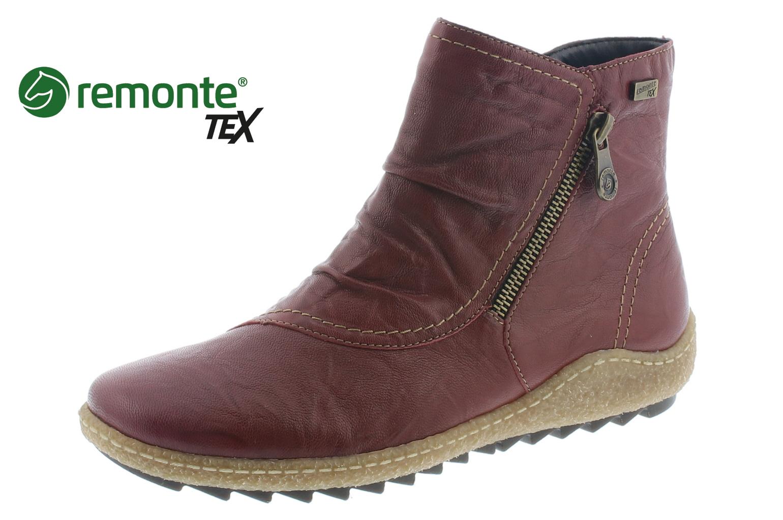 Remonte Damen StiefelStiefelette Damen Reißverschluss Stiefel Rot R4780 35 WINE | eBay