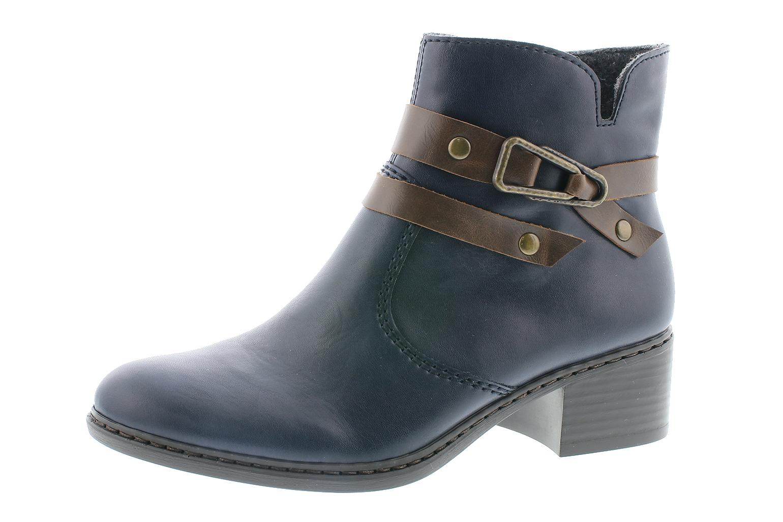 Rieker Damen Stiefel Stiefelette D.RV-Stiefel Blau 77683 15 NAVY