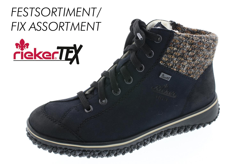 Rieker Damen Stiefel Stiefelette D.RV-Stiefel Blau Z4243 14 PAZIFI
