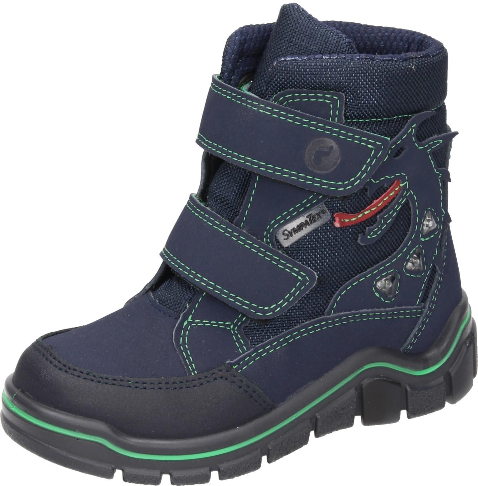 Ricosta Kinder Jungen Schuhe Jungen Klett-Stiefel -W blau Synthetik 470932