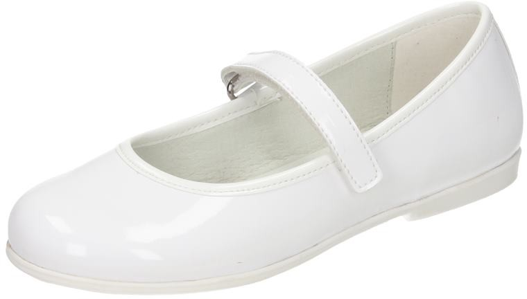 Kinder Kinder Kinder Mädchen Schuhe Mädchen Ballerina weiß Lack NEU 1d5f31