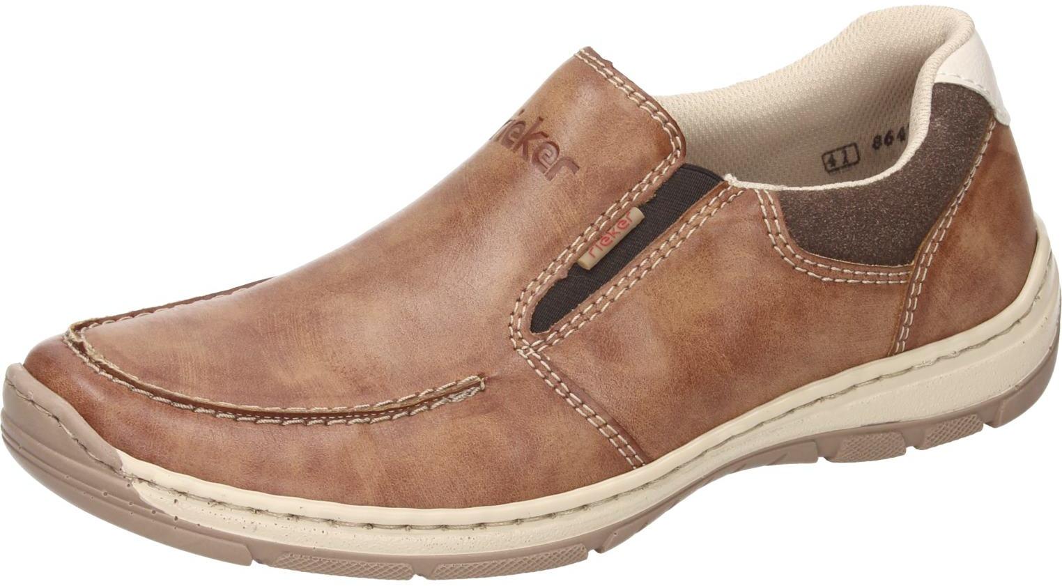 Details zu Rieker Herren Schuhe Herren Slipper braun Synthetik