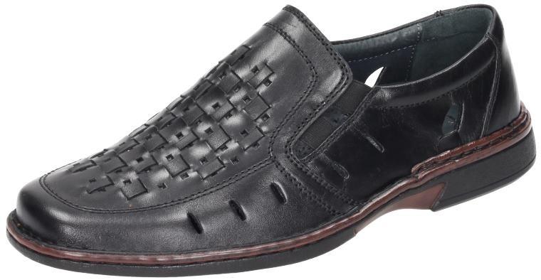 Comfortabel Herren Schuhe Schuhe Schuhe Herren-Slipper schwarz Leder 630597 932238