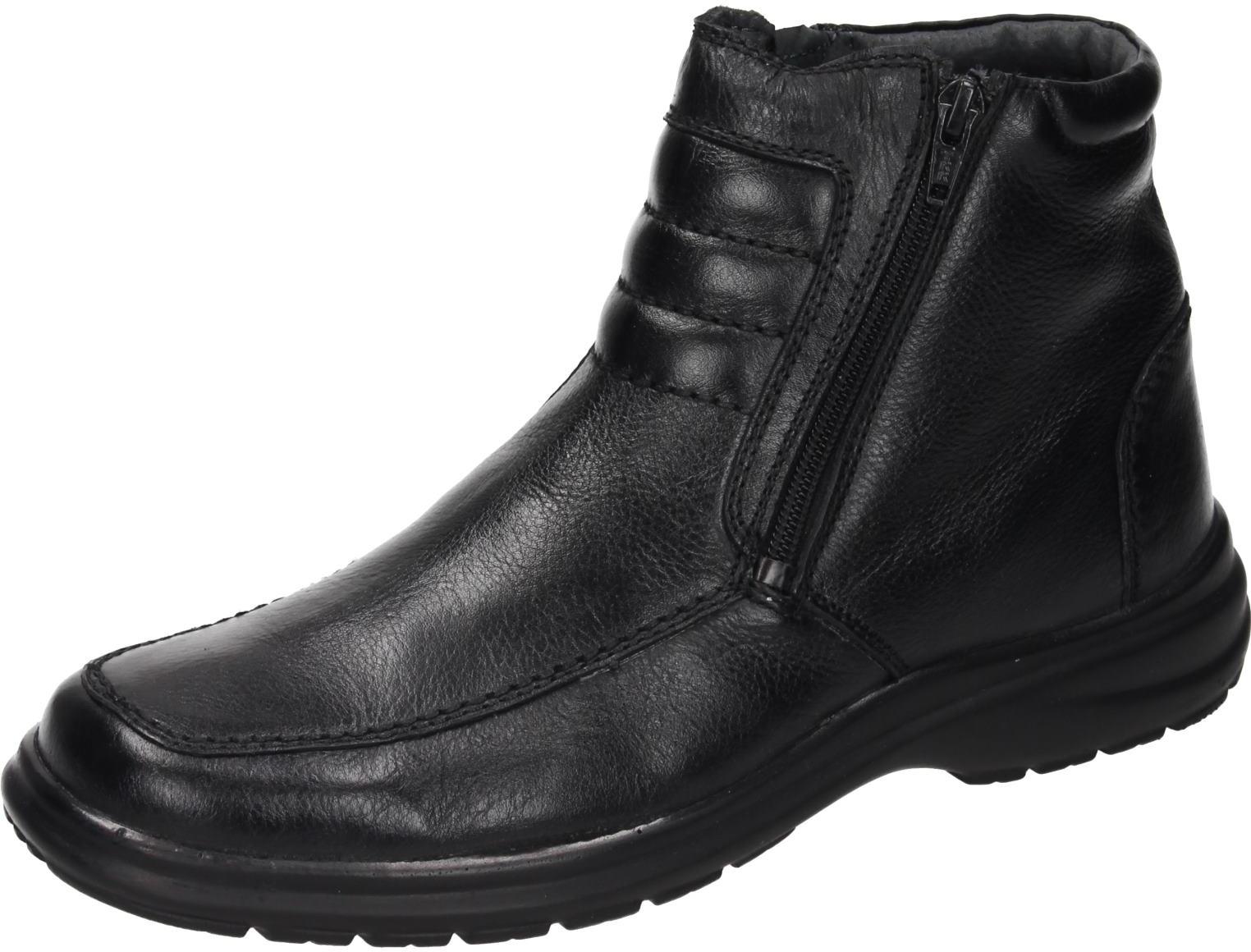 Schuhe 670455 Herren Comfortabel Stiefel Details schwarz zu