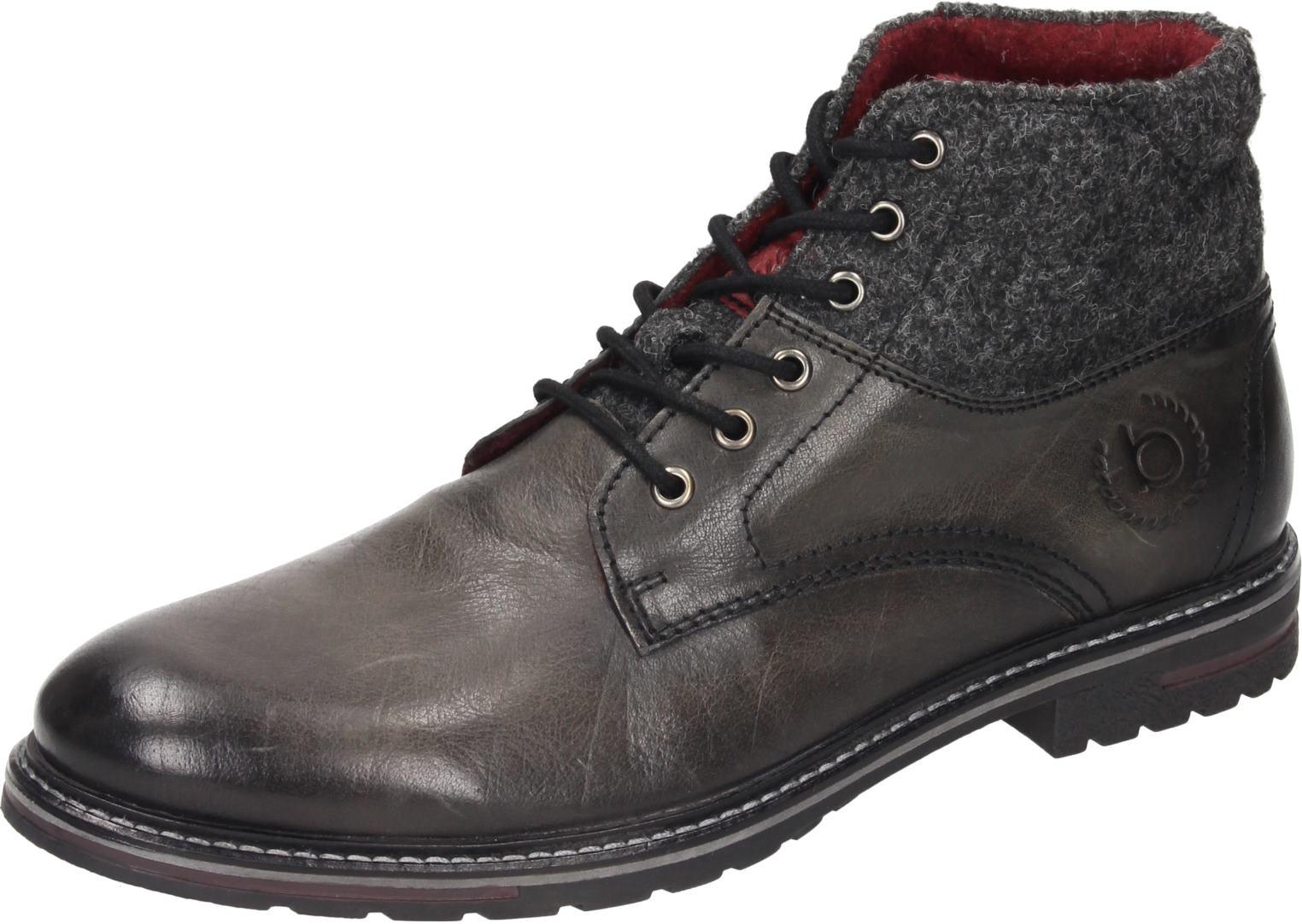 Bugatti denim Herren Schuhe Herren-Stiefel grau Leder NEU