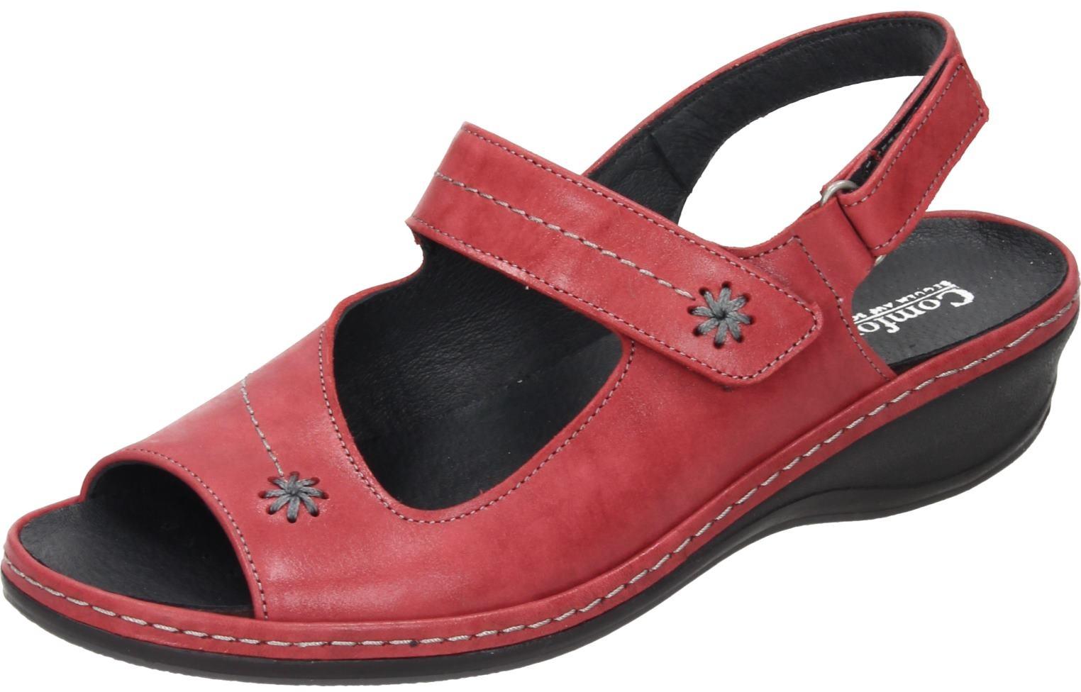 Comfortabel Damen Schuhe Damen-Sandale rot Leder 710874  | Öffnen Sie das Interesse und die Innovation Ihres Kindes, aber auch die Unschuld von Kindern, kindlich, glücklich