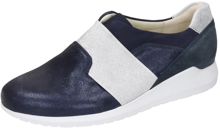 Waldläufer Damen Schuhe Damen-Slipper - H blau Nubukleder 942253