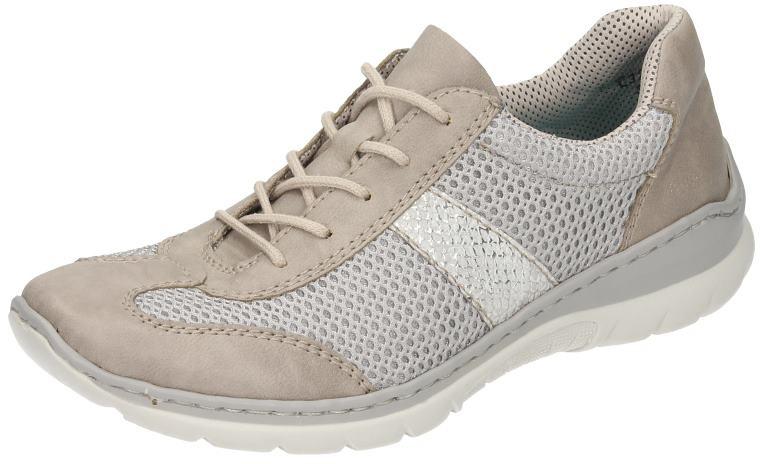 Rieker Damen Schuhe Damen-Schnürer grau Synthetik
