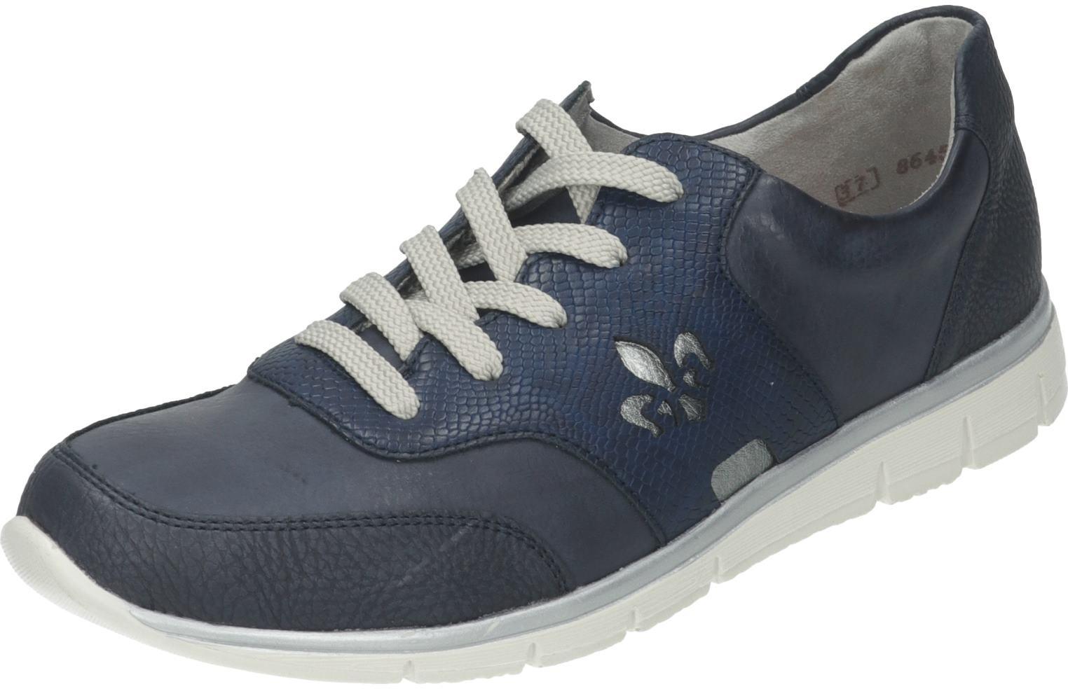 Rieker Damen Schuhe Damen-Schnürer blau Synthetik