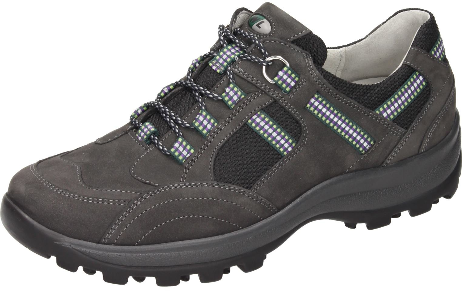 Waldläufer Damen Schuhe Damen-Schnürer - H grau Nubukleder 950899