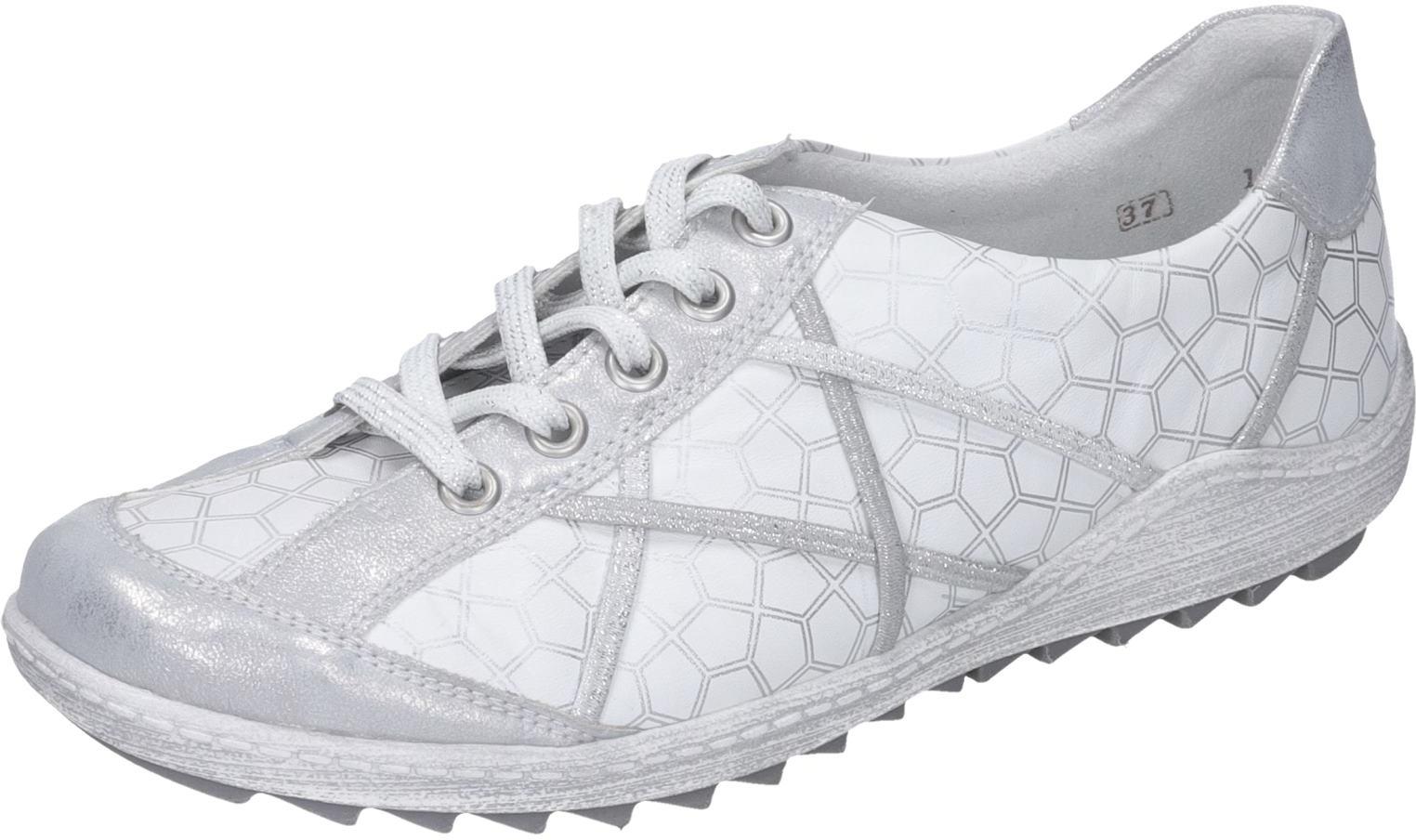ganz billig Damen Remonte Schuhe Schnürer G weiß Leder NEU