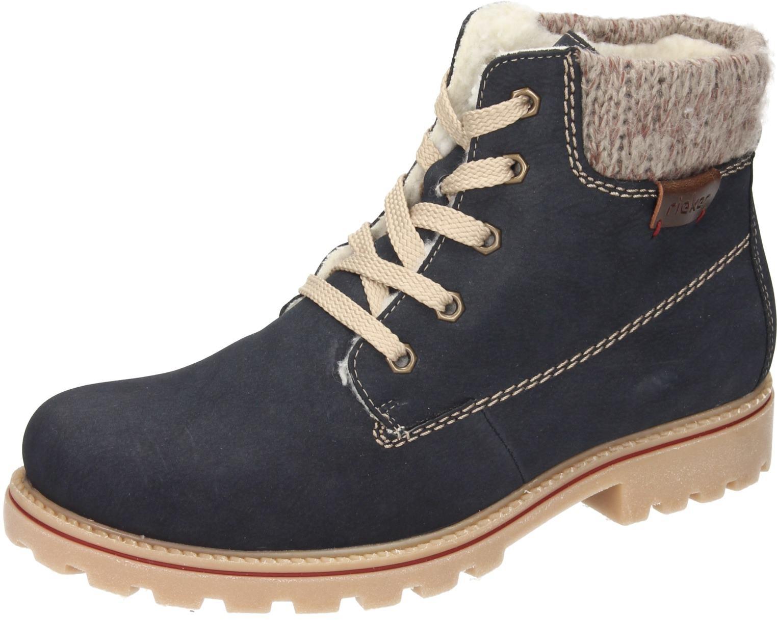 Rieker Damen Schuhe Damen Stiefelette blau Synthetik | eBay 9b2o1