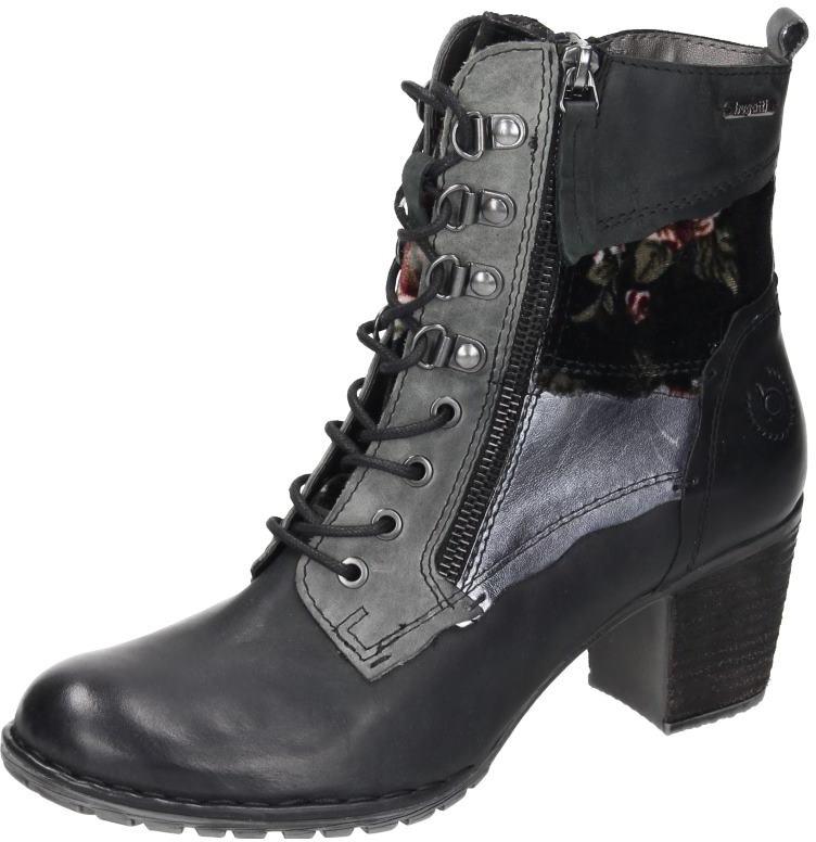 schwarz Damen Stiefelette Schuhe Damen denim city Bugatti