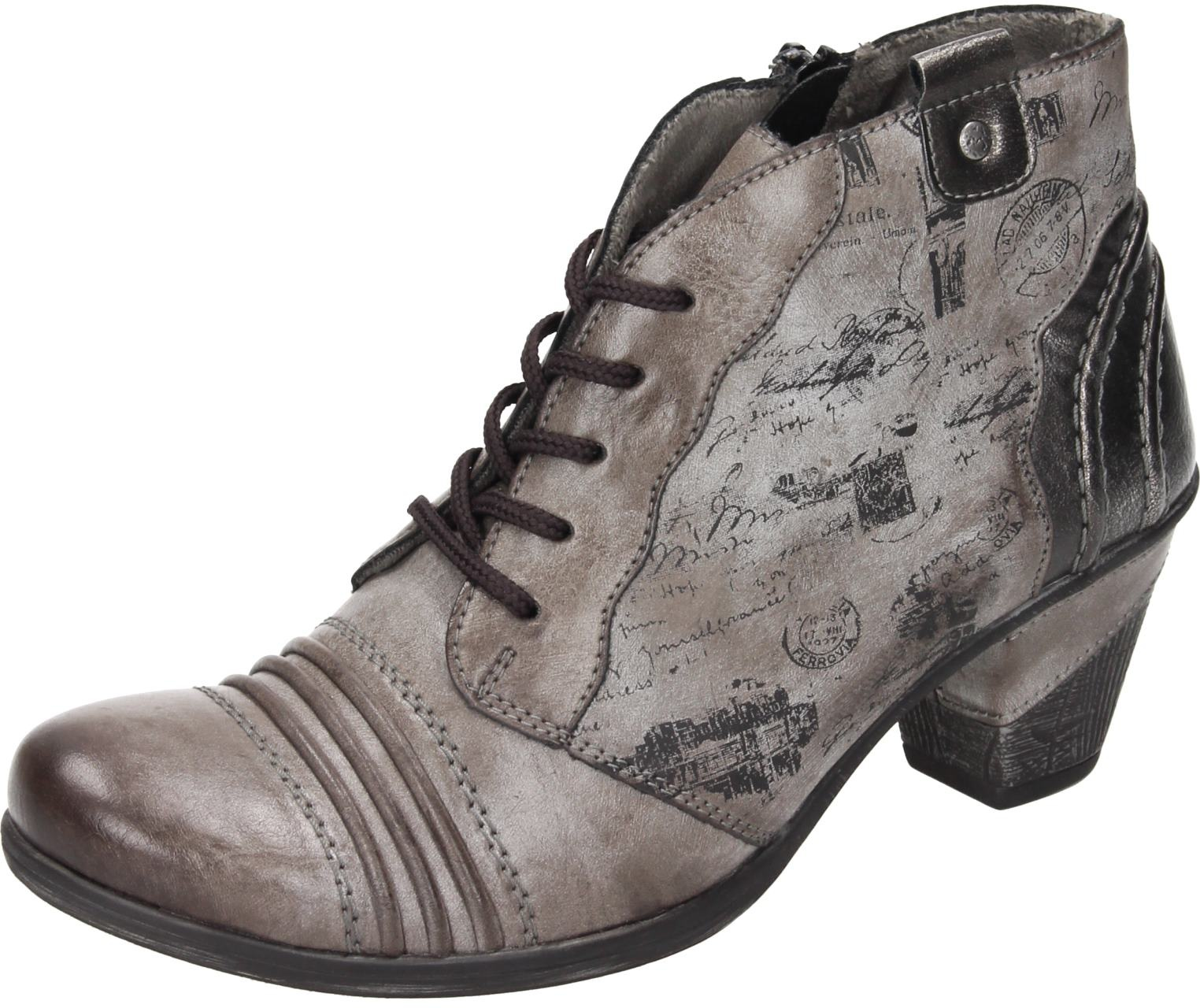 Remonte Damen Schuhe Damen-Stiefelette - F 1 2 grau Synthetik NEU
