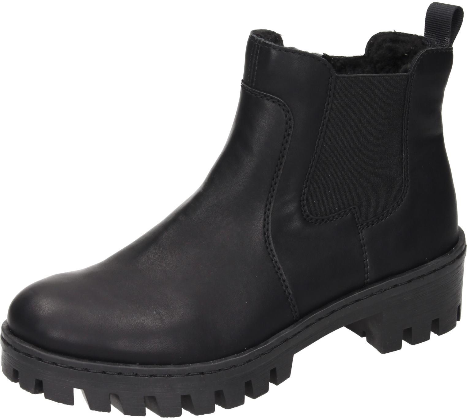 Rieker Damen Schuhe Damen-Stiefelette schwarz Synthetik