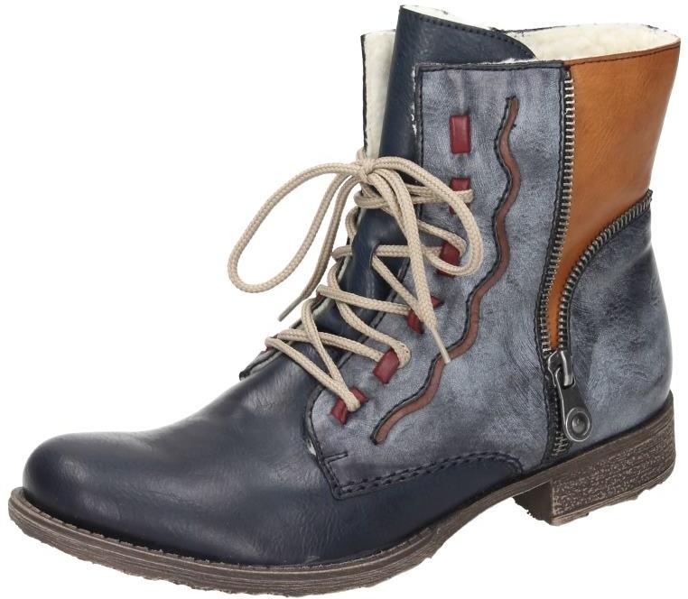 Schuhe Rieker Schnürstiefel in SCHWARZKA Synthetik in