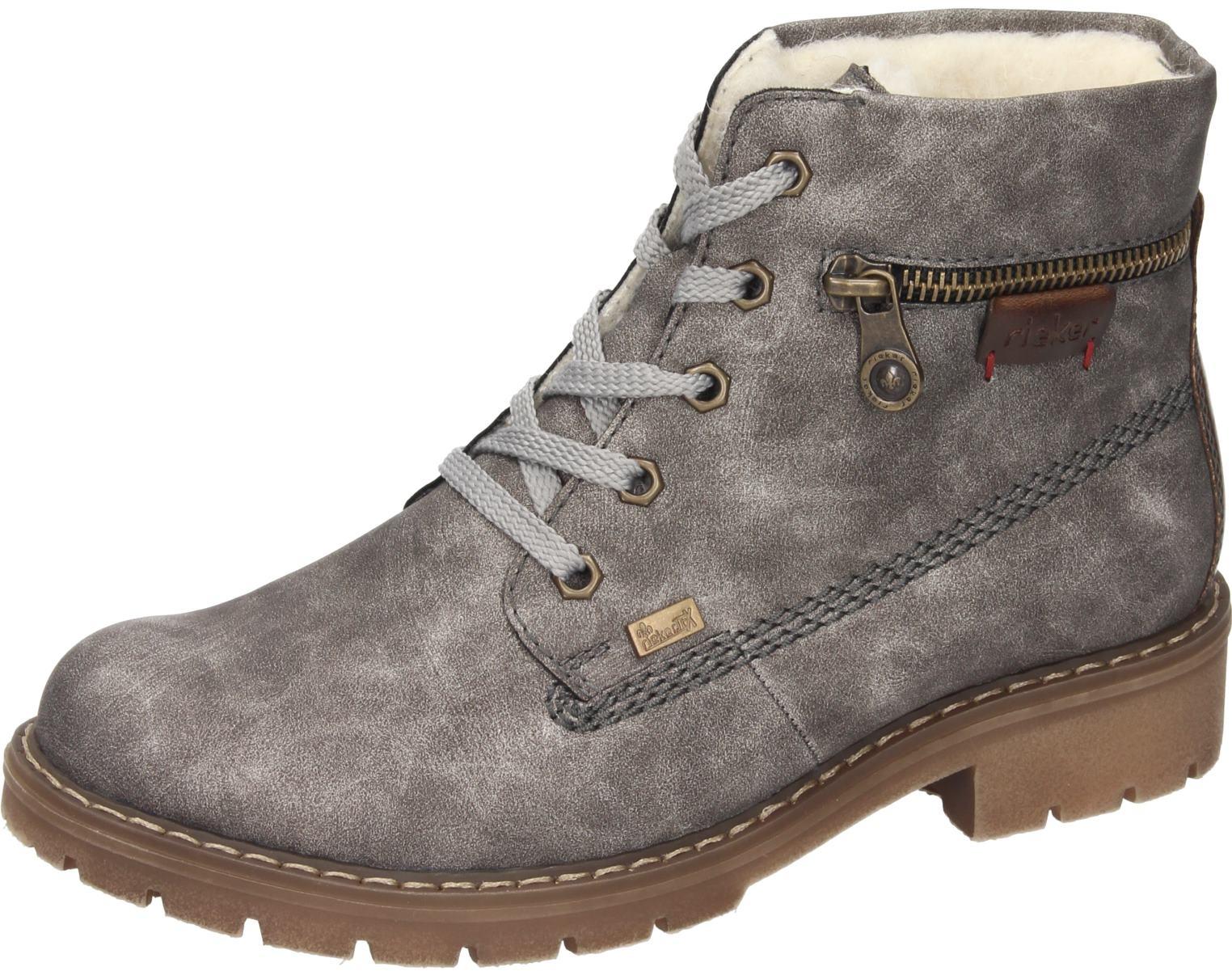Rieker Damen Schuhe Damen-Stiefelette - F 1 2 grau Synthetik