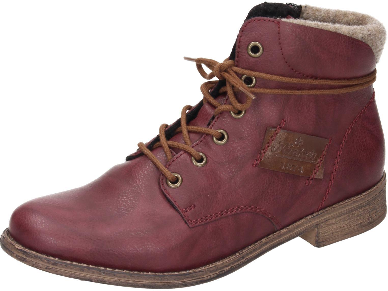 Rieker Damen Schuhe Damen-Stiefelette rot Synthetik NEU