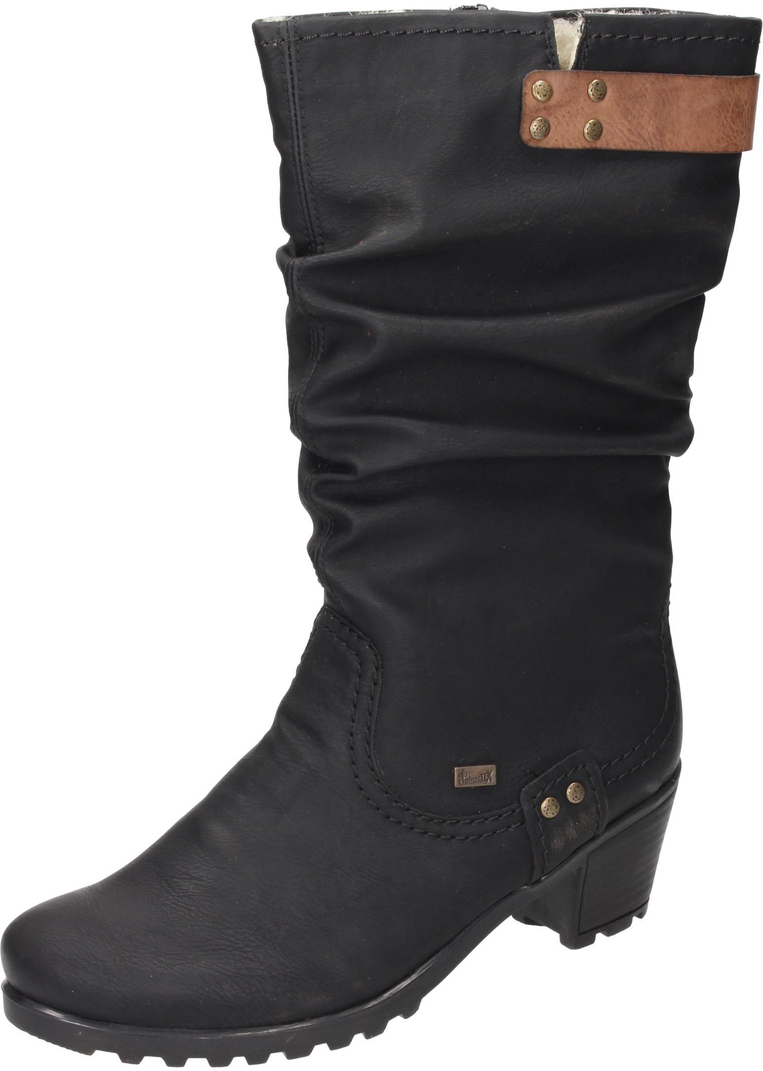 Rieker Damen Damen Damen Schuhe Damen-Stiefel schwarz Synthetik 9113f1