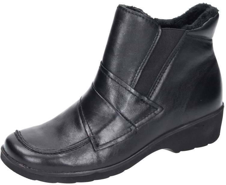 Comfortabel Damen Schuhe Damen-Stiefelette - G 1 2 schwarz Glattleder 990744