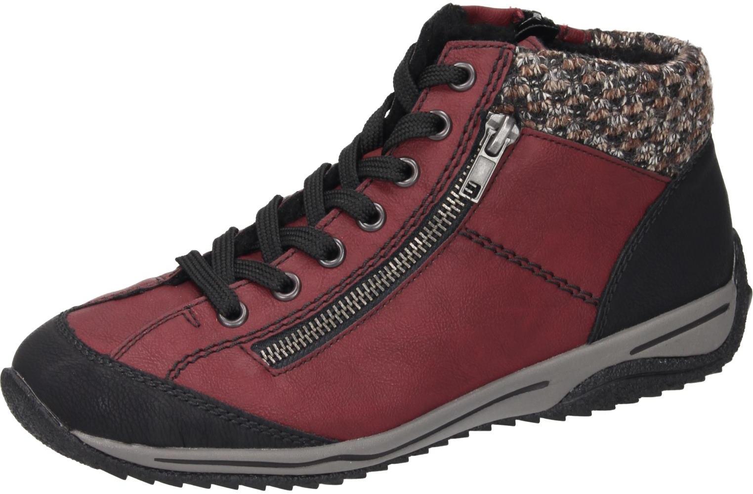 Schuhe Zu Synthetik Damen Details Rot Rieker Stiefel clK1FJ
