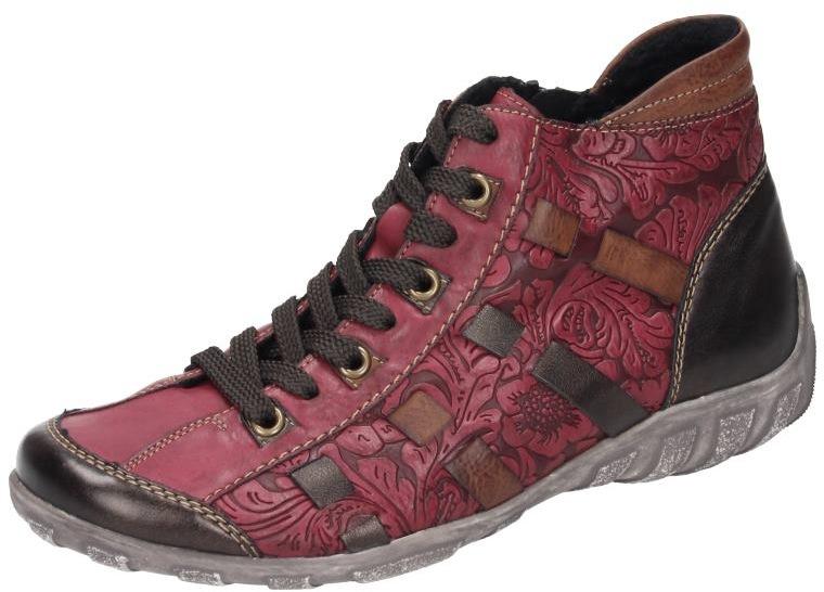 Remonte Damen Schuhe Damen-Stiefel - G rot Leder NEU