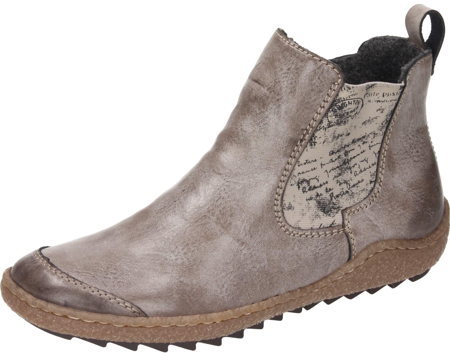 Rieker Damen Schuhe Damen Stiefelette braun Synthetik