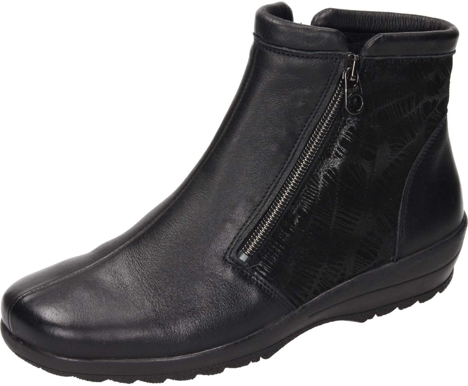 Comfortabel Damen Schuhe Damen-Stiefelette Damen-Stiefelette Schuhe - K schwarz Leder 991213 be8926