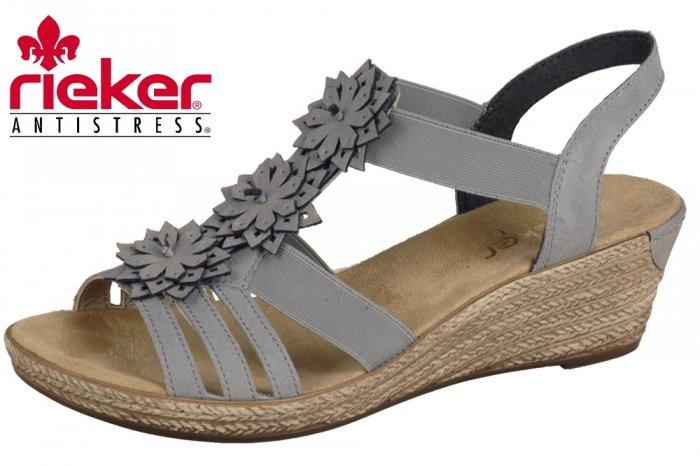 sandalen rieker grau