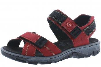 Rieker Damen Trekking Sandale Rot