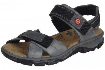Rieker Damen Trekking Sandale Blau