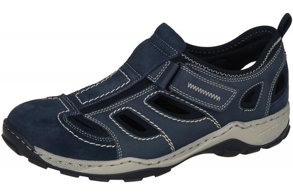 Rieker Herren Slipper Blau Schuhe Leder 08075 14 | eBay E6Qru