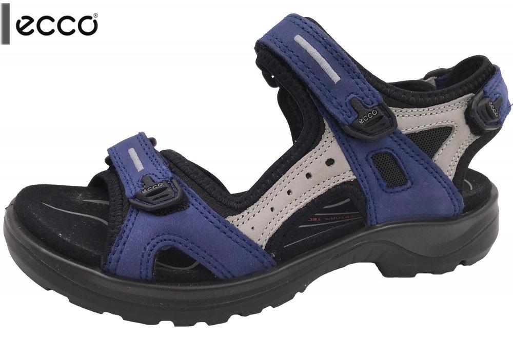 Ecco Damen Trekking Sandale Offroad Blau