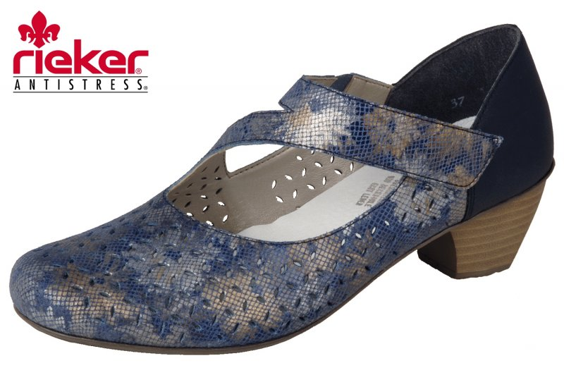neue Version verschiedene Stile besondere Auswahl an Rieker Damen Pumps Blau