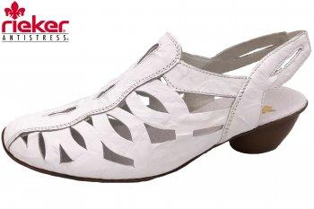 Rieker Damen Sandale Weiß