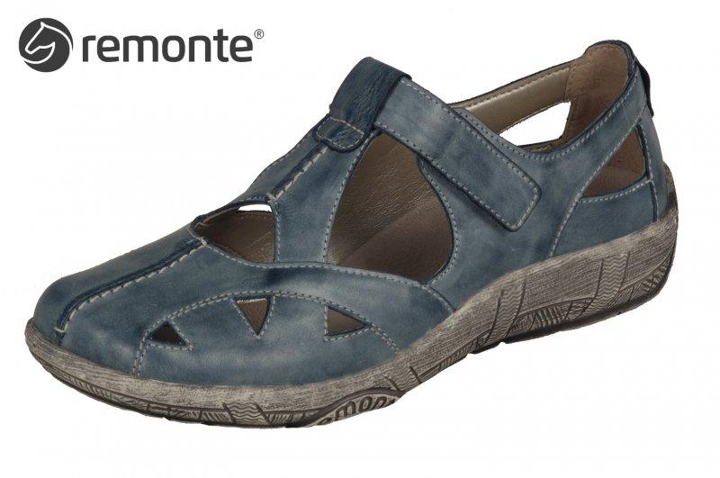 Remonte Damen Komfort Sandale Blau