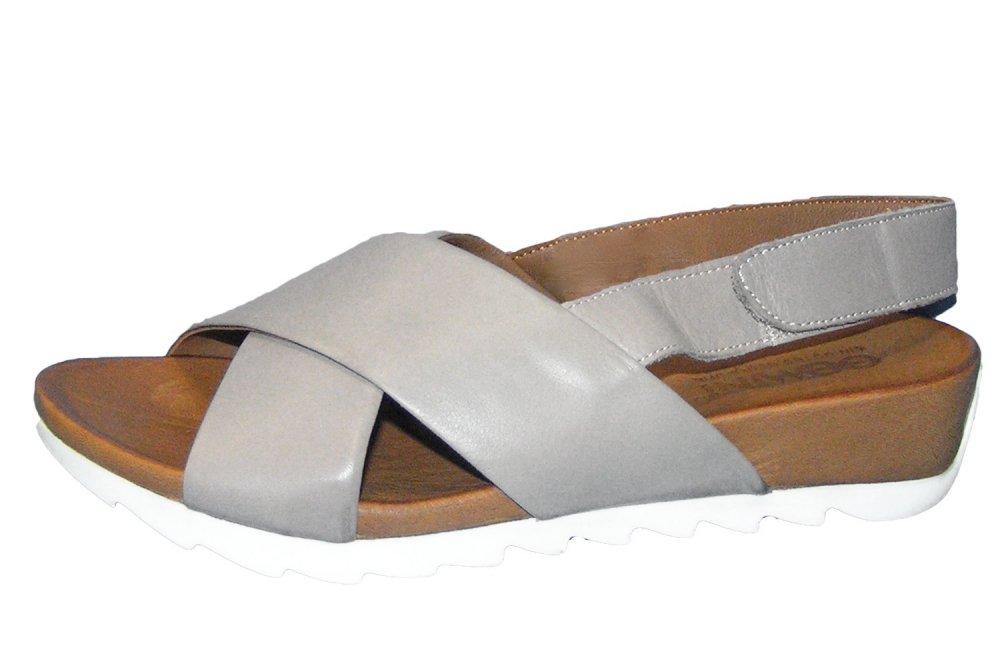 Gemini Damen Leder Sandale Taupe