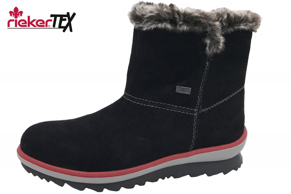 Damen Boots Rieker Winter Tex Schwarz 0nOvN8ymwP