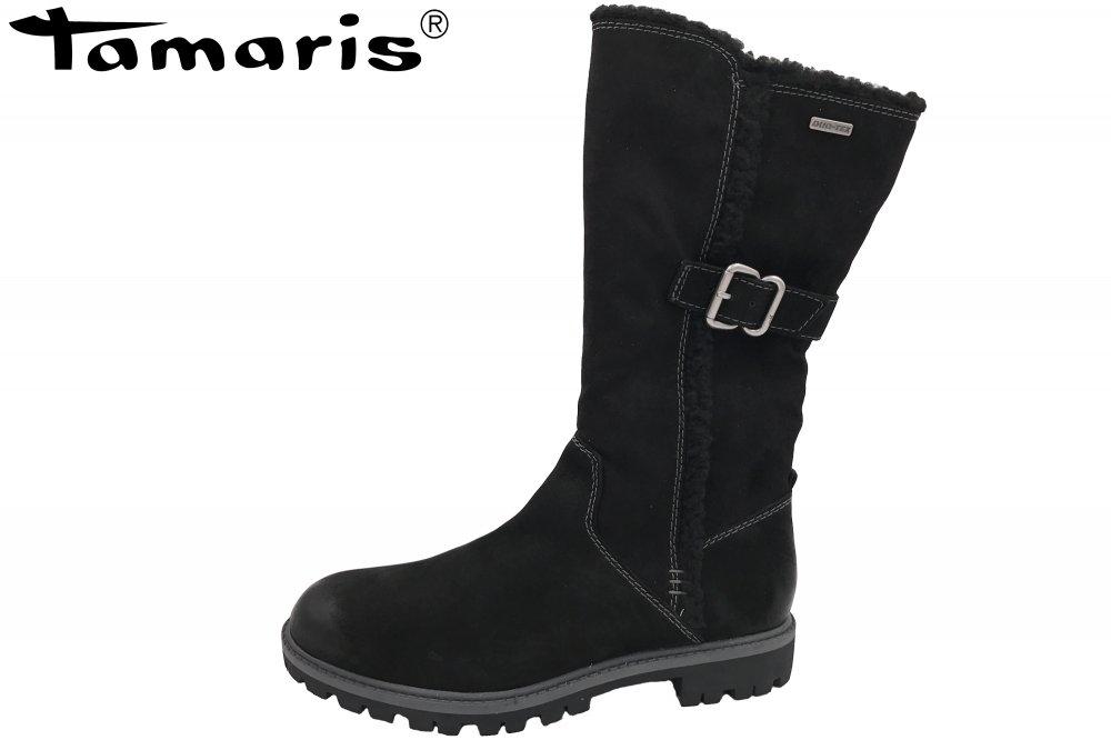 Schwarz Stiefel Tex Damen Duo Tamaris DYH29WEI