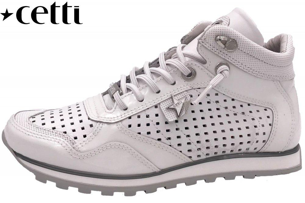 Cetti Damen Sneaker High Weiß Lack