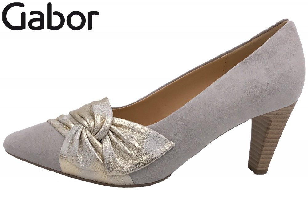 Gabor Pumps Nude Silber/Gold