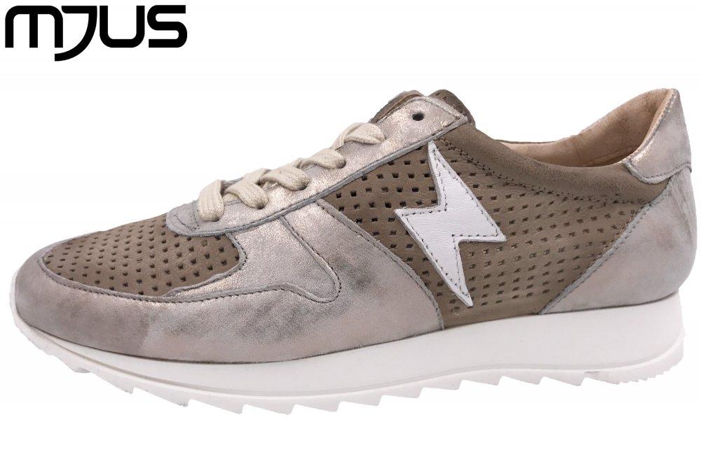 MJUS Damen Sneaker Taupe Metallic